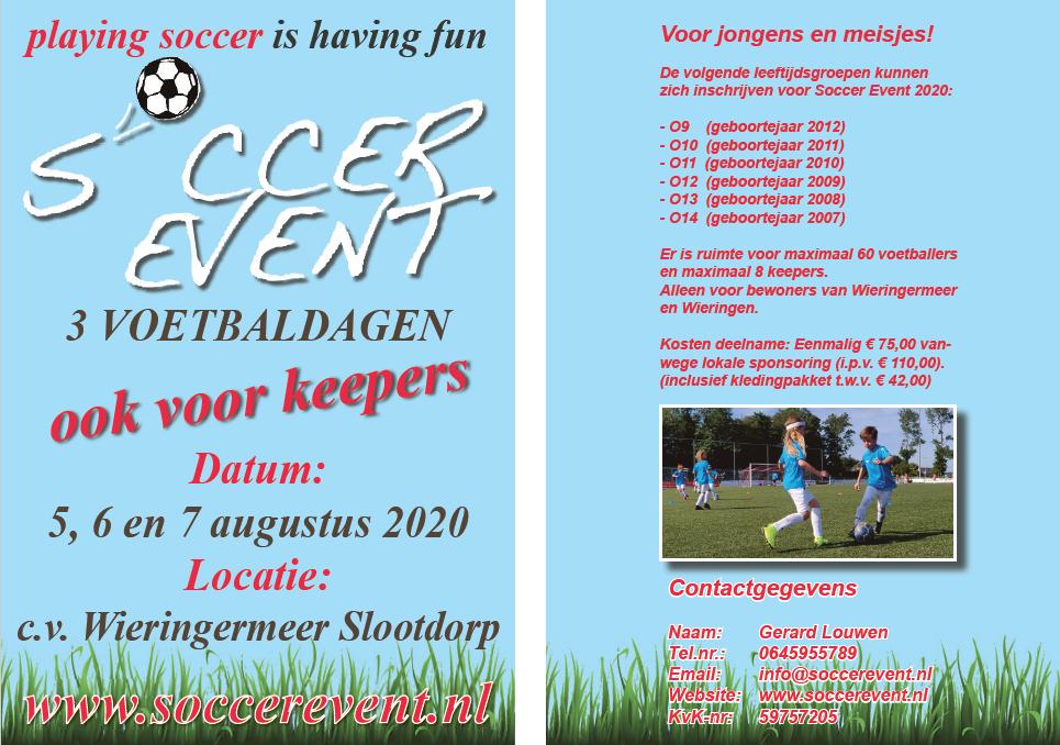Soccer Event voetbaldagen bij CVWieringermeer 1